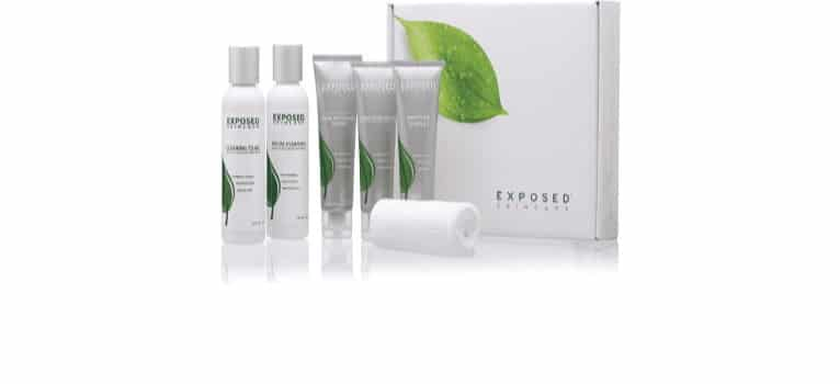 Exposed Skincare Expanded Kit products