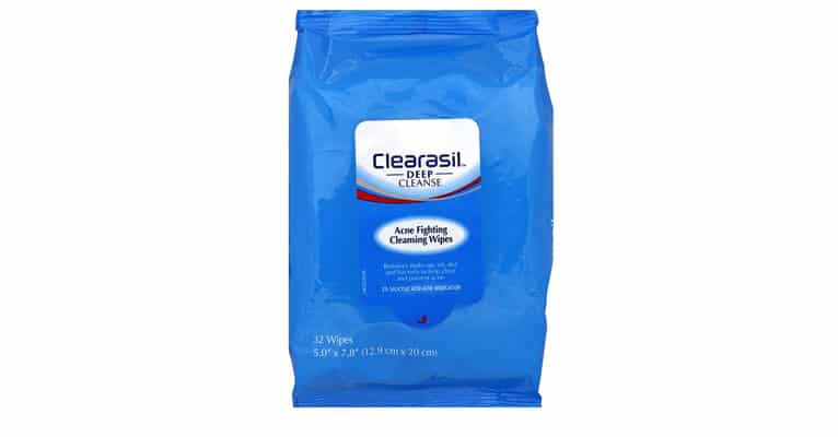 clearasil acne wipes