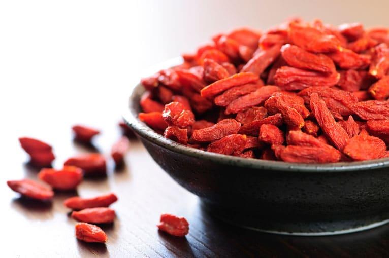 Goji berries for acne