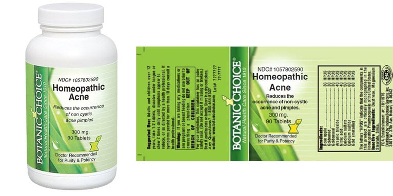 Homeopathic acne treatment