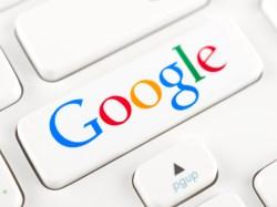 Google logotype on a keyboard button