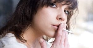 Woman Smoking and Acne