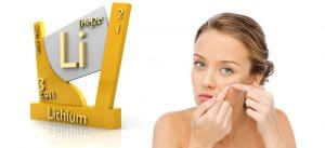 Lithium Products can cause Acne