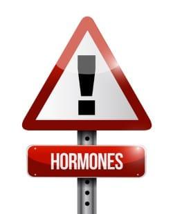 hormones warning sign illustration design over a white background