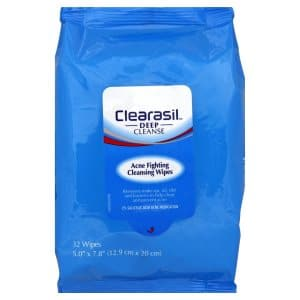 Clearasil Acne Fighting Wipes are actually a decent choice and makeup remover.