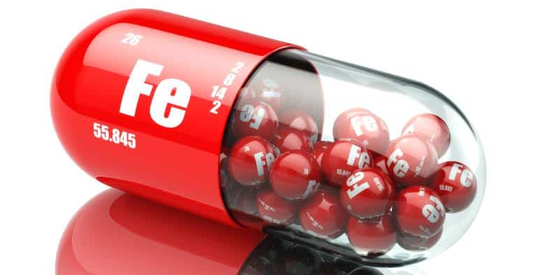 Illustrative iron capsule with iron balls inside